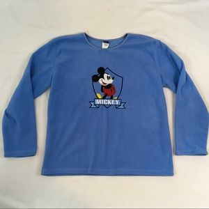 Womens Large Mickey Mouse Sweater Blue Disney